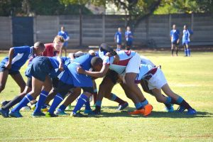 High School Winters Sports Day Rugby Scrum