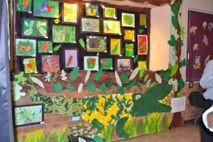 Art Exhibition student work display