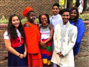 Students celebrating Heritage Day