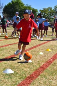 Junior Sports Day team exercise