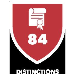 84 Distinctions