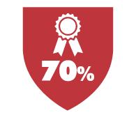 70% Grade Average