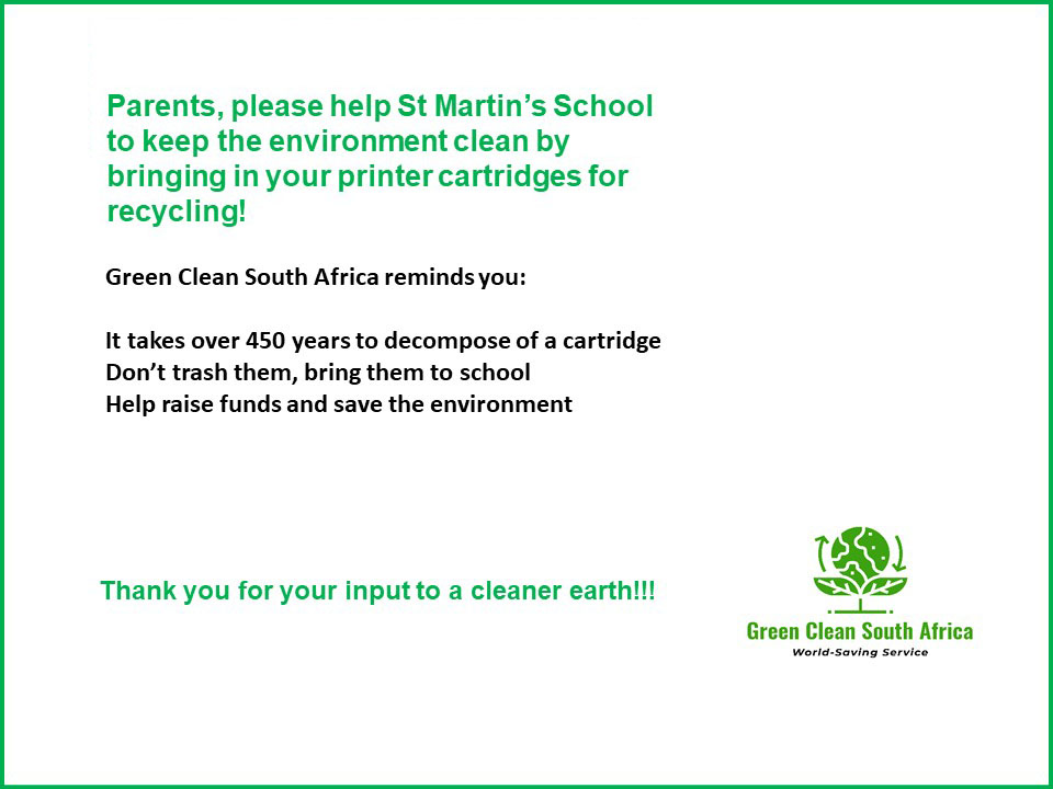 Green Clean South Africa Toner Recycling Initiative Notice