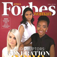 Past student Kiara Nirghin on the cover of Forbes